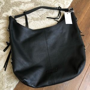 Lucky Brand NWT Leather Jill Black Hobo Purse